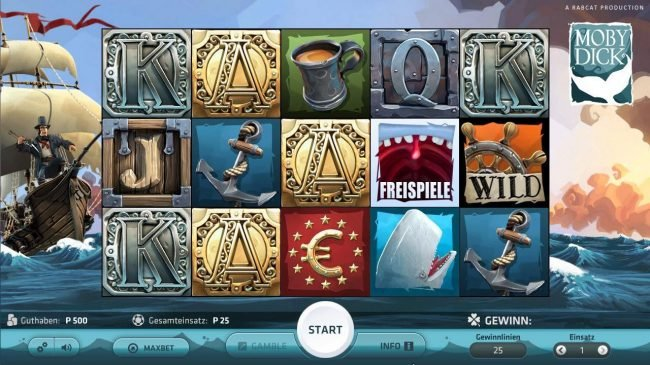 Play slots at Euro Palace: Euro Palace featuring the Video Slots Moby Dick with a maximum payout of $250,000