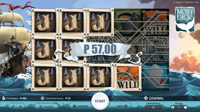 Slots Million featuring the Video Slots Moby Dick with a maximum payout of $250,000