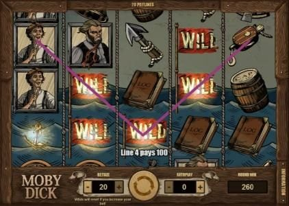Casino Extreme featuring the Video Slots Moby Dick with a maximum payout of $5,000