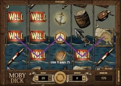 iNET Bet featuring the Video Slots Moby Dick with a maximum payout of $5,000
