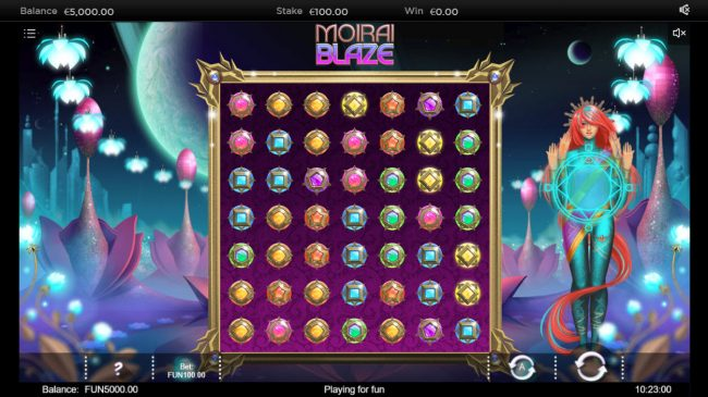 Cheeky Riches featuring the Video Slots Moirai Blaze with a maximum payout of $200,000