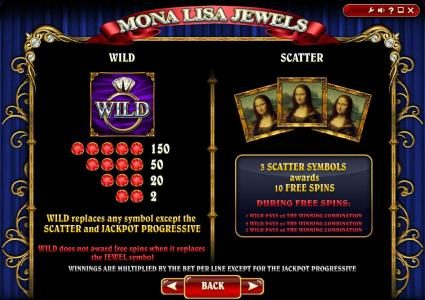 Play slots at Yoyo: Yoyo featuring the Video Slots Mona Lisa Jewels with a maximum payout of Jackpot