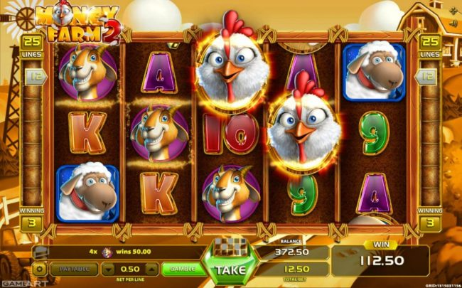 Magik Slots featuring the Video Slots Money Farm 2 with a maximum payout of $1,000