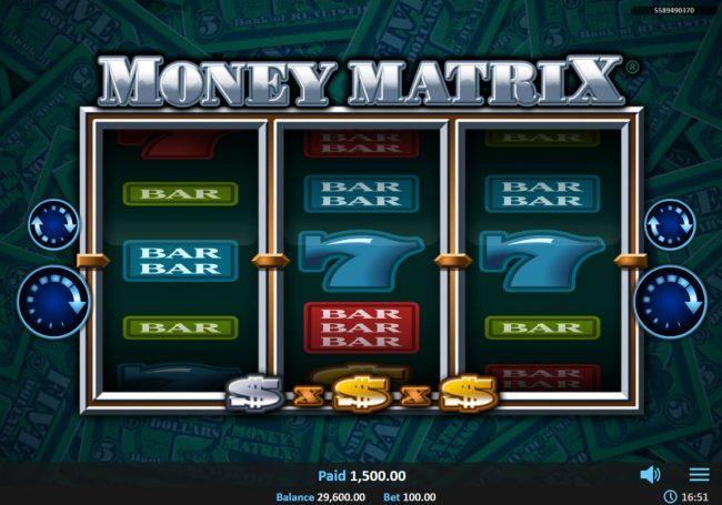 Money Matrix :: Total Feature Payout