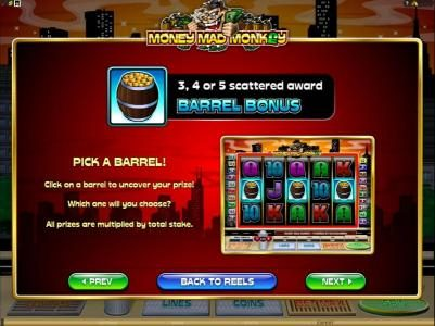 Triple Aces featuring the Video Slots Money Mad Monkey with a maximum payout of $10,000