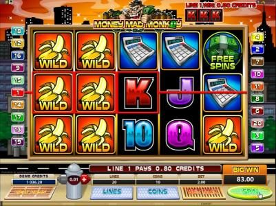 Mummys Gold featuring the Video Slots Money Mad Monkey with a maximum payout of $10,000
