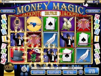 This Is Vegas featuring the Video Slots Money Magic with a maximum payout of $5,000