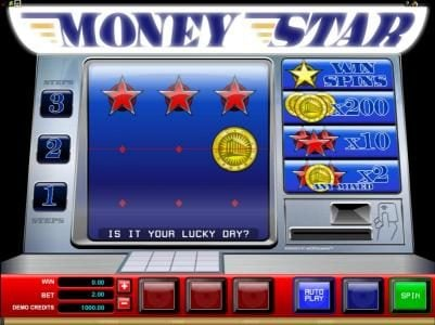 Casino Moons featuring the Video Slots Money Star with a maximum payout of $2,000