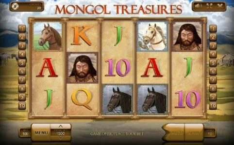 Wild Tornado featuring the Video Slots Mongol Treasures with a maximum payout of $500,000