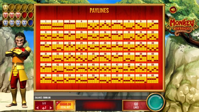 Chomp featuring the Video Slots Monkey Prince with a maximum payout of $25,000,000