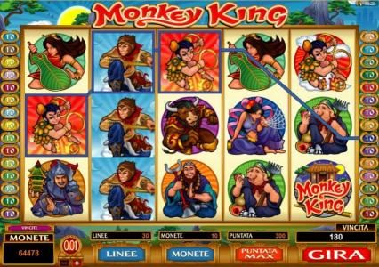Play slots at Thrills: Thrills featuring the Video Slots Monkey King with a maximum payout of $1,000