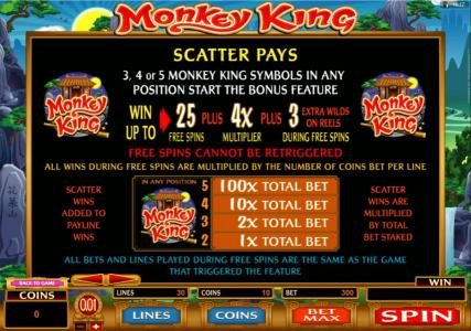 Play slots at Colosseum: Colosseum featuring the Video Slots Monkey King with a maximum payout of $1,000