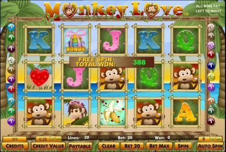 Orientxpress featuring the Video Slots Monkey Love with a maximum payout of $125,000