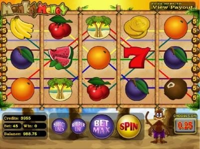 Betchain featuring the Video Slots Monkey Money with a maximum payout of $25,000