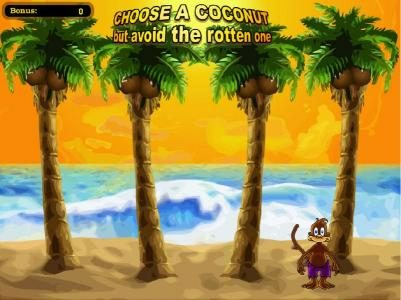 choose a coconut to earn a prize
