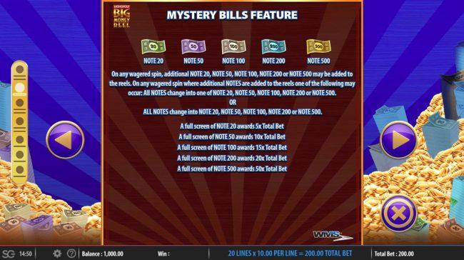 Monopoly Big Money Reel :: Mystery Bill Feature