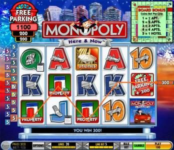 Play slots at Cheeky Riches: Cheeky Riches featuring the Video Slots Monopoly - Here & Now with a maximum payout of $125,000