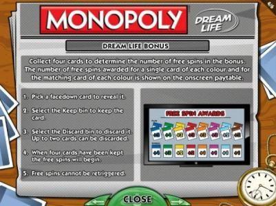 Dream Life Bonus Rules