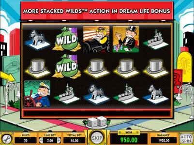 Dragonara featuring the Video Slots Monopoly Dream Life with a maximum payout of $25,000.00