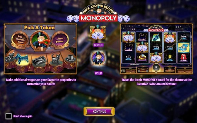 Monopoly Once Around Deluxe :: Make additional wagers on your favorite properties to customize your board! Travel the iconic monopoly board for the chance at the lucrative Twice Around feature!