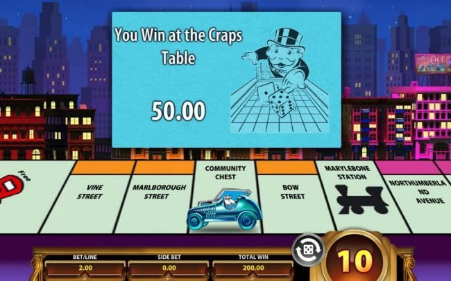 Monopoly Once Around Deluxe :: Landing on the Community Chest game space awards additional prizes.