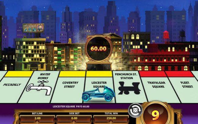 Monopoly Once Around Deluxe :: Landing on the different properties will award you with varying prize amounts