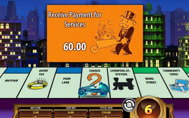 Monopoly Once Around Deluxe :: Another chance card pays out an additional 60.00