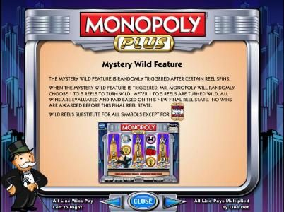 Casino Luck featuring the Video Slots Monopoly Plus with a maximum payout of $250,000