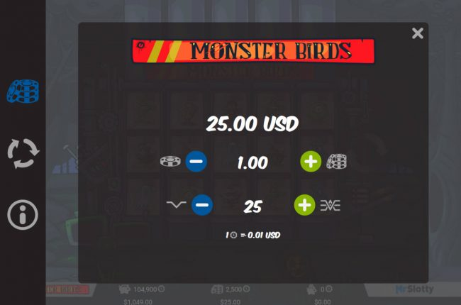 Africa Casino featuring the Video Slots Monster Birds with a maximum payout of $50,000
