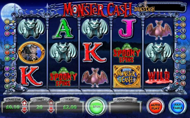 Play slots at Grand Ivy: Grand Ivy featuring the Video Slots Monster Cash with a maximum payout of $250,000