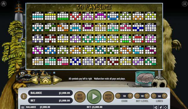 Monster Mash Cash :: Paylines 1-50