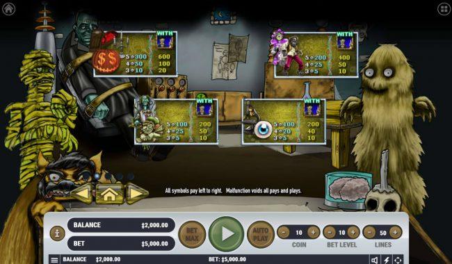 Monster Mash Cash :: Low Value Symbols