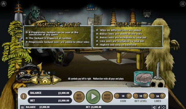 Monster Mash Cash :: General Game Rules