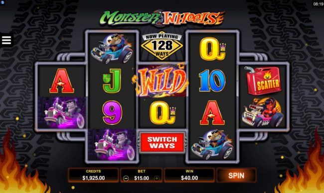 Shadowbet featuring the Video Slots Monster Wheels with a maximum payout of $115,000