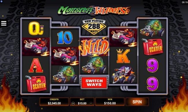 Rich Casino featuring the Video Slots Monster Wheels with a maximum payout of $115,000