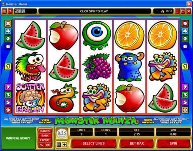 Royal Panda featuring the Video Slots Monster Mania with a maximum payout of $2,000