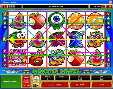 Play slots at Wixstars: Wixstars featuring the Video Slots Monster Mania with a maximum payout of $2,000
