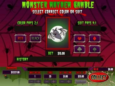 Mission 2 Game featuring the Video Slots Monster Mayhem with a maximum payout of jackpot