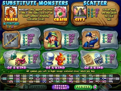 Play slots at Aussie Play: Aussie Play featuring the Video Slots Monster Mayhem with a maximum payout of $250,000