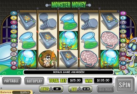 Liberty Slots featuring the Video Slots Monster Money with a maximum payout of $50,000