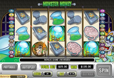 Lincoln featuring the Video Slots Monster Money with a maximum payout of $50,000
