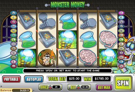 Red Stag featuring the Video Slots Monster Money with a maximum payout of $50,000