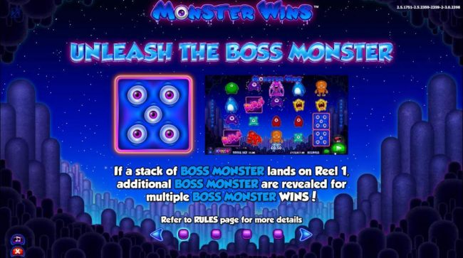 Instacasino featuring the Video Slots Monster Wins with a maximum payout of $10,000