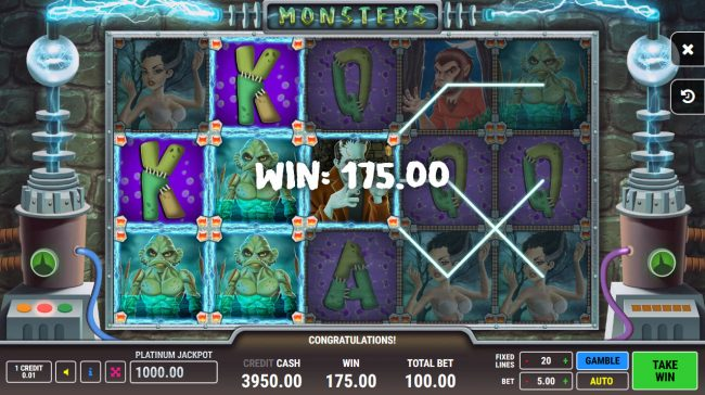 Monsters :: Multiple winning paylines