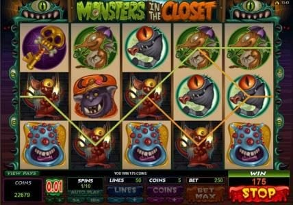 Players Palace featuring the Video Slots Monsters in the Closet with a maximum payout of $4,000