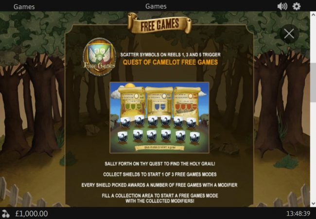 MANSION featuring the Video Slots Monty Python's Holy Grail with a maximum payout of $125,000