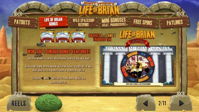 Life of Brian Bonus Game Rules