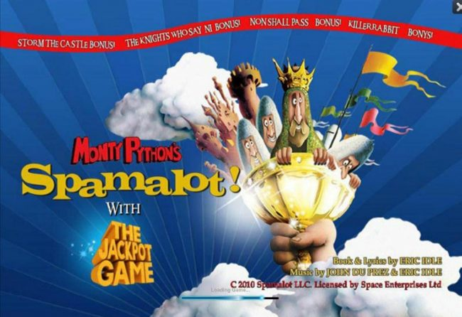 Play slots at Casino King: Casino King featuring the Video Slots Monty Python's Spamalot with a maximum payout of $250,000