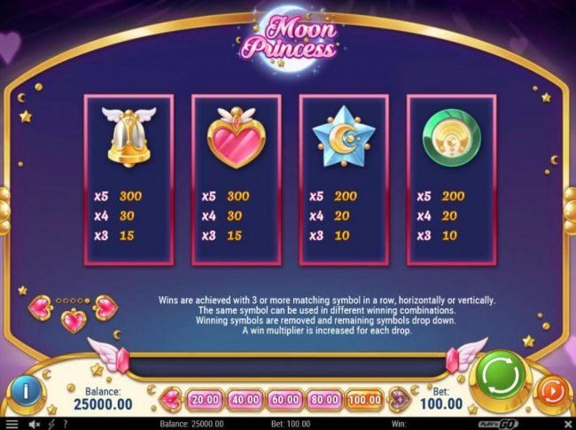 Africa Casino featuring the Video Slots Moon Princess with a maximum payout of $500,000