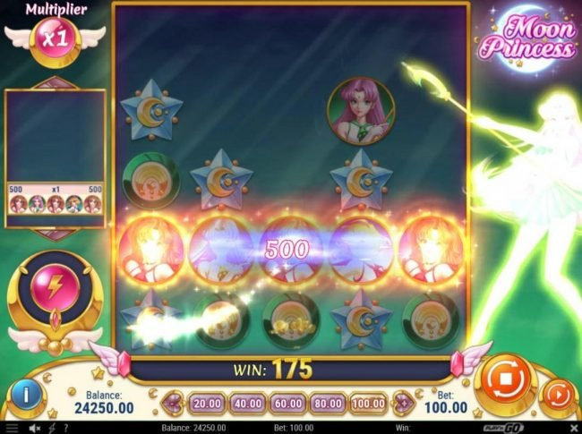 ReelTastic featuring the Video Slots Moon Princess with a maximum payout of $500,000